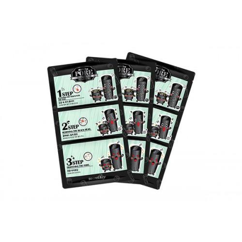 Набор патчей для удаления черных точек Black Out Pore 3-Step Nose Pack