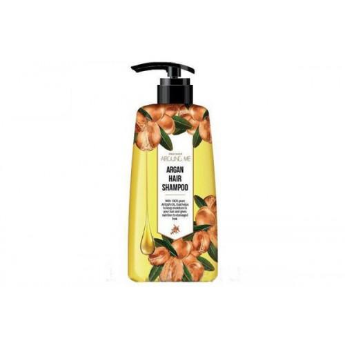 Шампунь для поврежденных волос Around me Argan Hair Shampoo