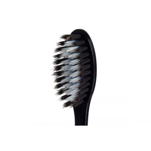 Двухрядная зубная щетка с древесным углем и наночастицами серебра Dr.NanoTo Charcoal & Nano Silver