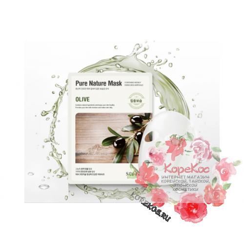Маска для лица тканевая Secriss Pure Nature Mask Pack-Olive