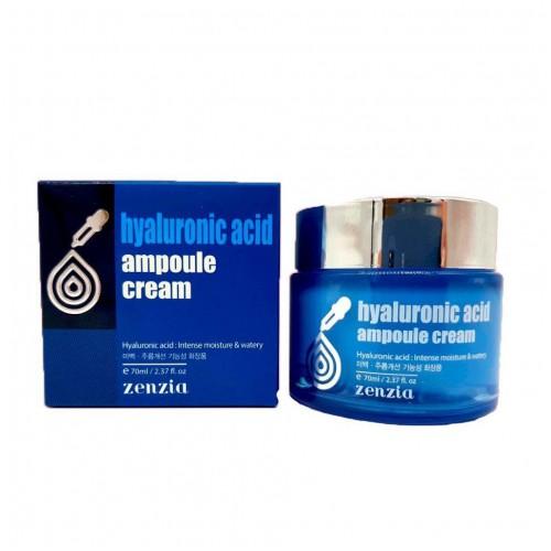 Крем для лица с гиалуроновой кислотой Zenzia  Hyaluronic Acid Ampoule Cream