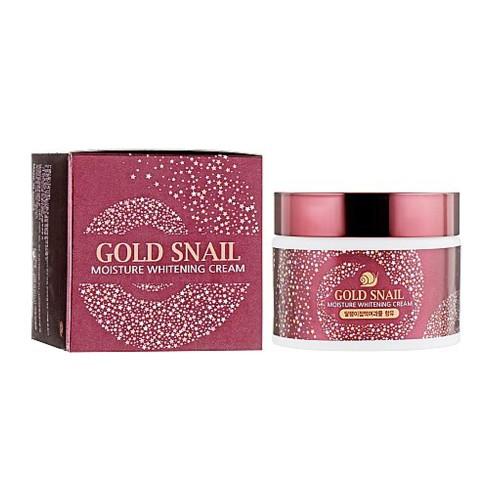 Крем для лица с муцином улитки Enough Gold Snail Moisture Whitening Cream