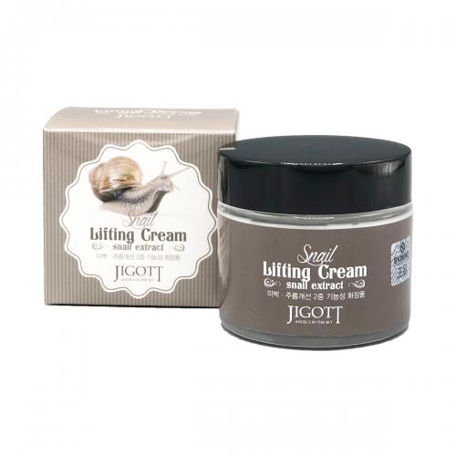 Подтягивающий крем с экстрактом слизи улитки Jigott Snail Lifting Cream