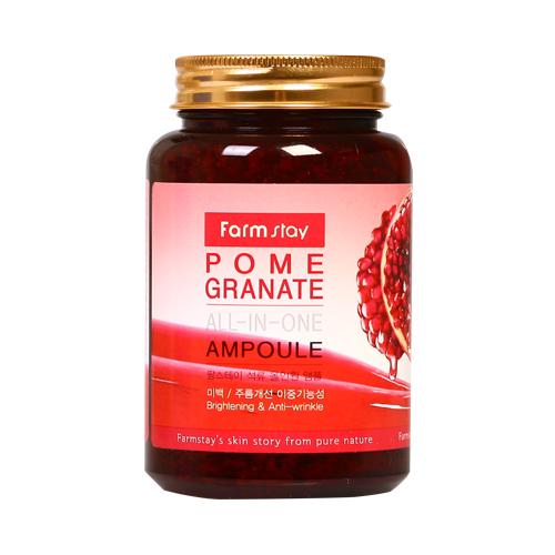 Антиоксидантная антивозрастная сыворотка с экстрактом граната Farmstay Pomegranate All-In One Ampoule