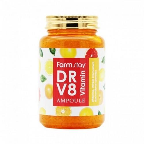 Отбеливающая ампула-сыворотка для лица с витаминным комплексом FarmStay DR-V8 Vitamin Ampoule