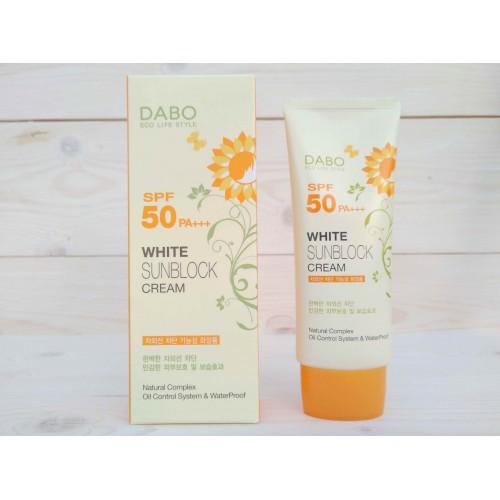 Солнцезащитный крем для лица DABO White Sunblock Cream (SPF50 PA+++ )