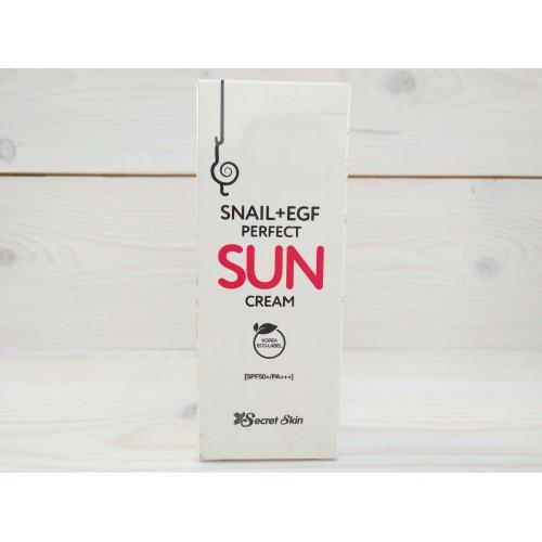 Крем для лица солнцезащитный SPF 50+++ с экстрактом улитки SECRETSKIN SNAIL+EGF PERFECT SUN CREAM