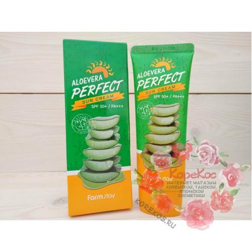 Солнцезащитный крем FARMSTAY Aloevera Perfect Sun Cream