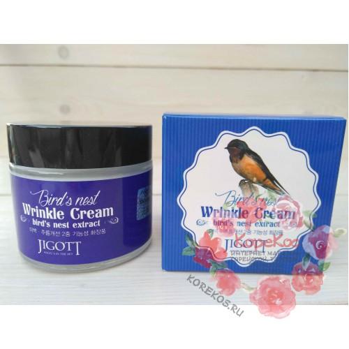 Крем против морщин на основе экстракта ласточкиного гнезда Jigott Bird's Nest Wrinkle Cream