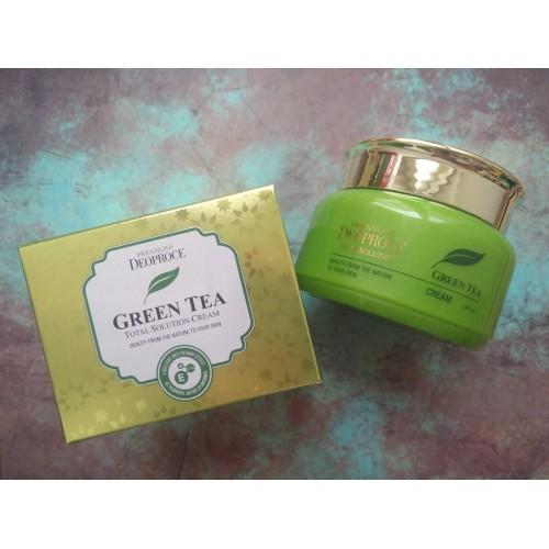 Крем на основе зеленого чая PREMIUM DEOPROCE GREENTEA TOTAL SOLUTION CREAM