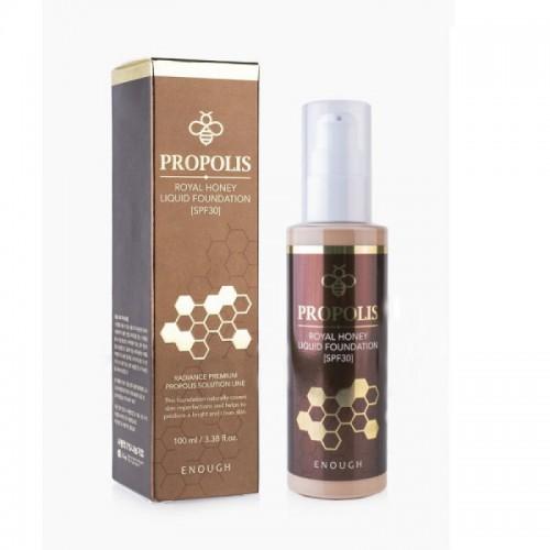 Тональный крем для лица с пчелиным маточным молочком ENOUGH Propolis Royal Honey Liquid Foundation #21