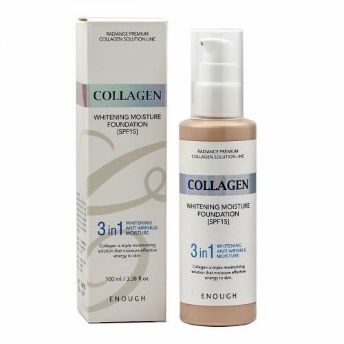 Тональный крем с коллагеном для сияния кожи ENOUGH Collagen 3 in 1 Whitening Moisture Foundation #13