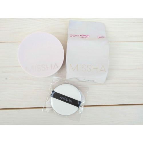 Тональный крем-кушон для стойкого макияжа Missha Magic Cushion Cover Lasting + сменный блок No.23 SPF50+ PA+++