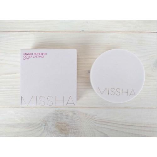 Тональный крем-кушон для стойкого макияжа Missha Magic Cushion Cover Lasting No.23 SPF50+ PA+++