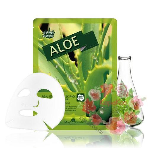 Маска для лица тканевая алоэ Real Essence Aloe Mask Pack