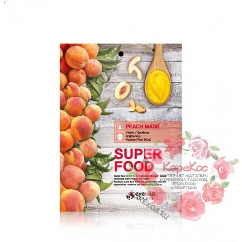 Маска для лица тканевая с экстрактом персика EYENLIP SUPER FOOD PEACH MASK