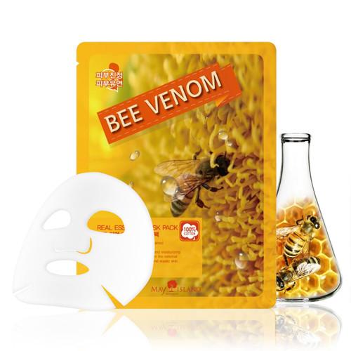 Маска для лица тканевая маточное молочко Real Essence Bee Venom Mask Pack