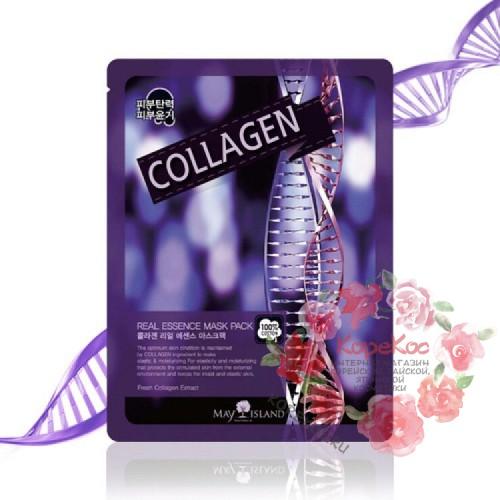 Маска для лица тканевая коллаген Real Essence Collagen Mask Pack