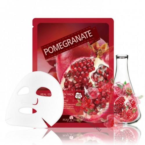 Маска для лица тканевая гранат Real Essence Pomegranate Mask Pack