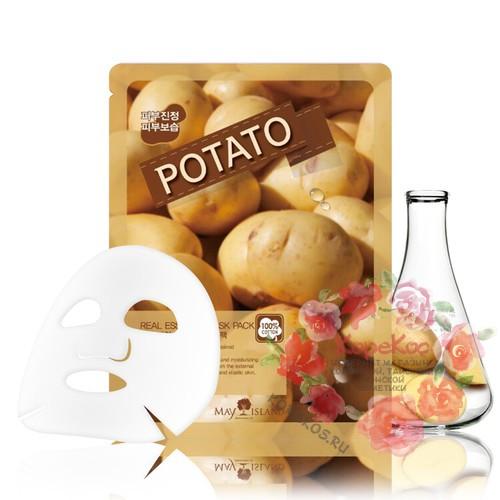 Маска для лица тканевая картофель Real Essence Potato Mask Pack