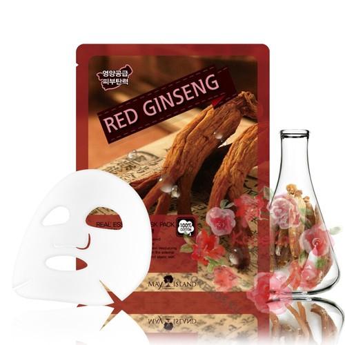 Маска для лица тканевая красный женьшень Real Essence Red Ginseng Mask Pack