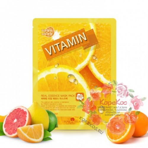 Маска для лица тканевая витамины Real Essence Vitamin Mask Pack