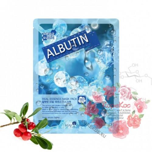 Маска для лица тканевая арбутин Real Essense Albutin Mask Pack