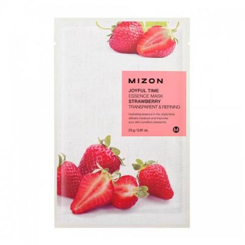 Тканевая маска для лица с экстрактом клубники Joyful Time Essence Mask Strawberry