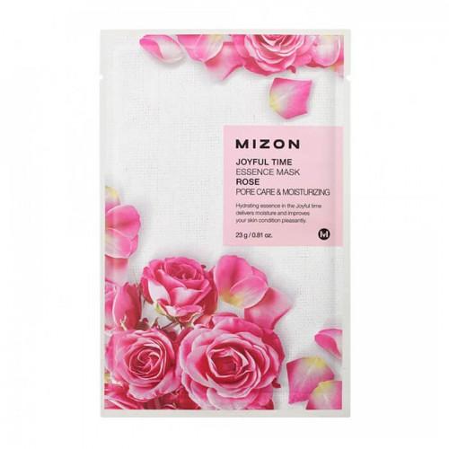 Тканевая маска для лица с экстрактом лепестков розы Joyful Time Essence Mask Rose