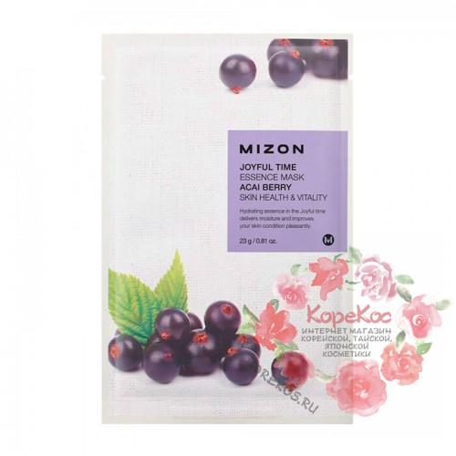 Тканевая маска для лица с экстрактом ягод асаи Joyful Time Essence Mask Acai Berry