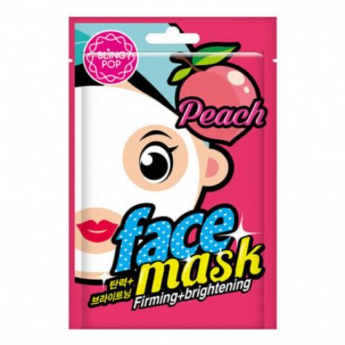 Маска для лица тканевая BLING POP Peach Firming & Brightening Mask