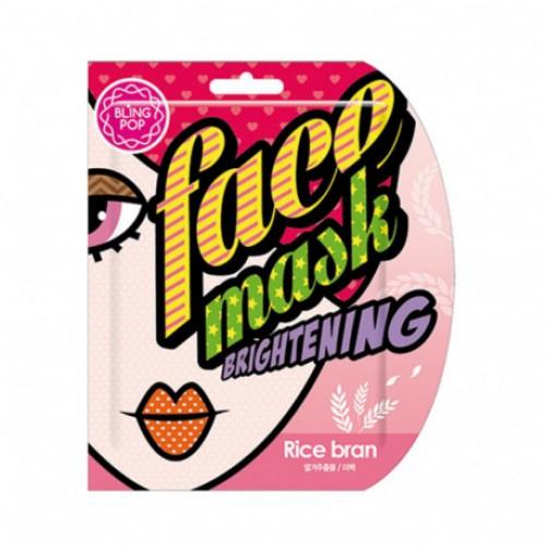 Маска для лица тканевая BLING POP RICE BRAN BRIGHTENING MASK