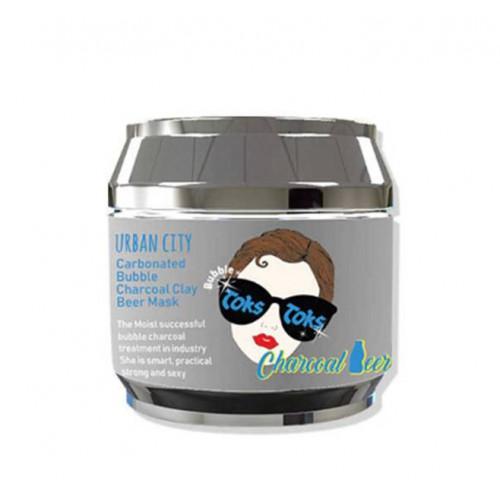 Маска для лица глиняно-пузырьковая Urban City Carbonated Charcoal Clay Beer Mask  ЛИМИТИРОВАННАЯ СЕРИЯ