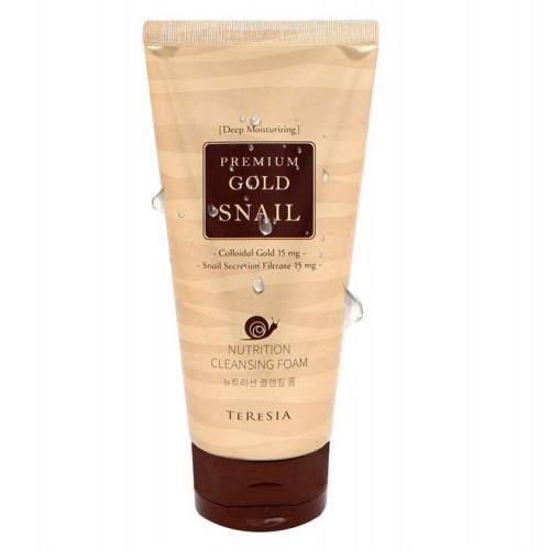 Премиум пенка с коллоидным золотом и муцином улитки Teresia Premium Gold Snail Nutrition Cleansing Foam