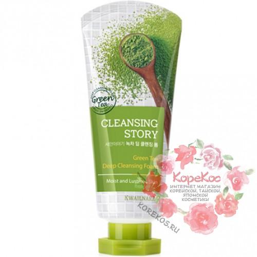 Пенка для лица зеленый чай Cleansing Story Foam Cleansing (Green Tea)