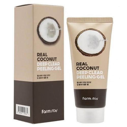 Отшелушивающий гель с экстрактом кокоса FarmStay Real Coconut Deep Clear Peeling Gel