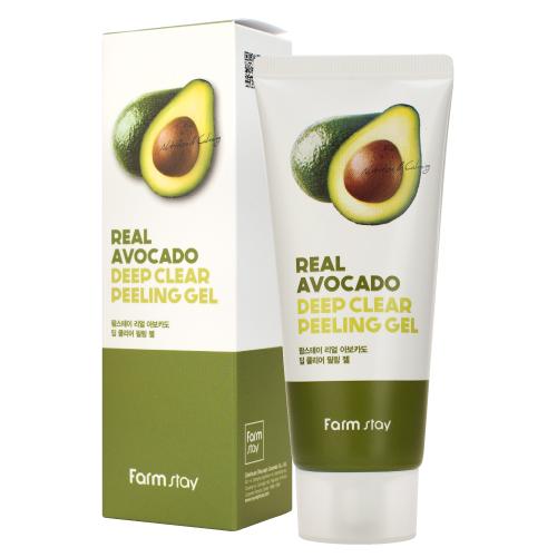 Отшелушивающий гель с экстрактом авокадо FarmStay Real Avocado Deep Clear Peeling Gel