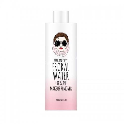 Средство для снятия макияжа Urban City FLORAL WATER Lip&Eye Remover