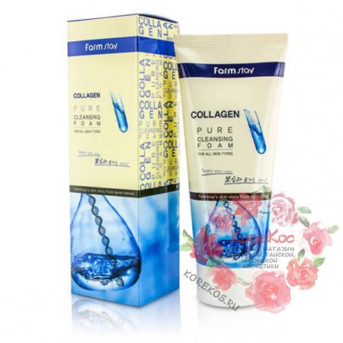 Коллагеновая пенка для умывания FarmStay Collagen Pure Cleansing Foam