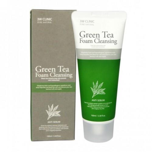 Пенка для умывания зеленый чай Green Tea Foam Cleansing