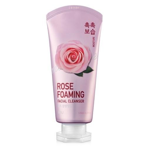 Пенка увлажняющая для умывания с розой IOU Rose Foaming Facial Cleanser