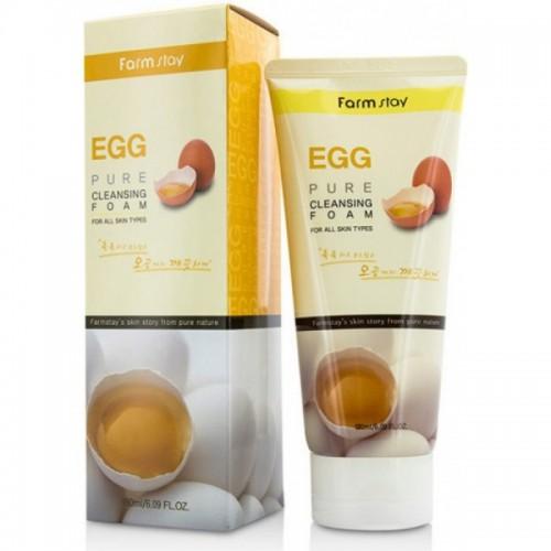 Очищающая пенка для сужения пор с яичным экстрактом FarmStay Egg Pure Cleansing Foam