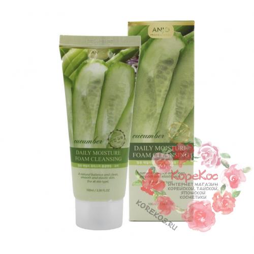 Увлажняющая пенка для умывания с экстрактом огурца Cucumber Moisture Foam Cleansing