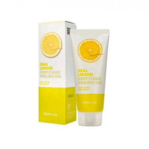 Отшелушивающий гель с экстрактом лимона FarmStay Real Lemon Deep Clear Peeling Gel