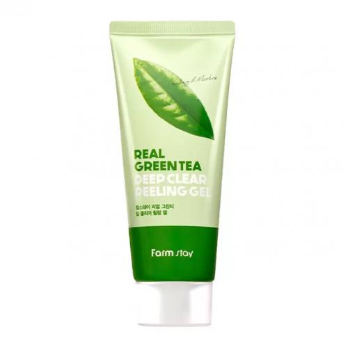 Гель отшелушивающий с экстрактом зеленого чая FarmStay Real Green Tea Deep Clear Peeling Gel
