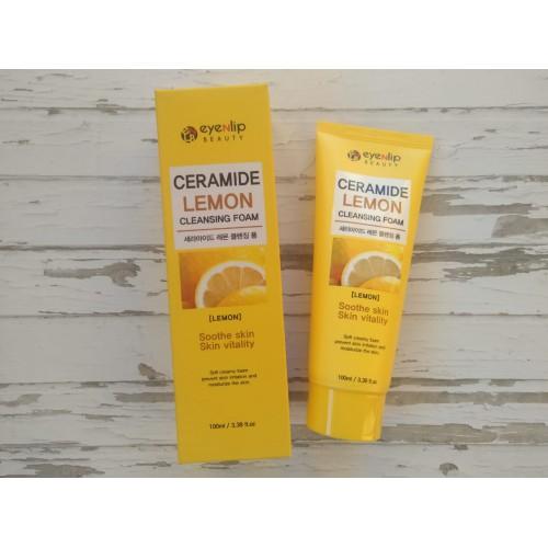 Пенка для умывания лимон CERAMIDE LEMON CLEANSING FOAM