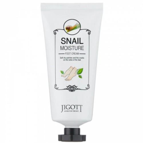 Увлажняющий крем для ног Jigott Snail moisture foot cream
