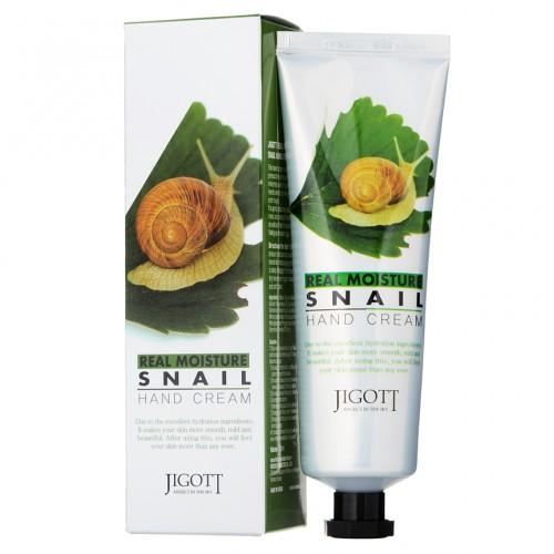 Увлажняющий крем для рук Jigott Real moisture Snail hand cream