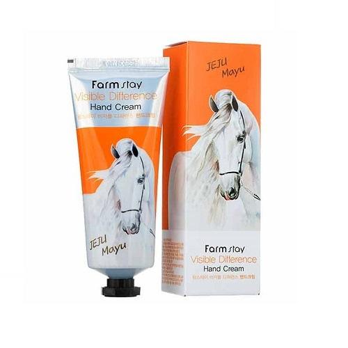 Крем для рук с лошадиным маслом FarmStay Visible Difference Hand Cream Horse Oil