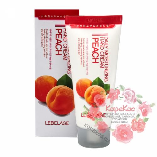 Увлажняющий крем для рук с экстрактом персика LEBELAGE Daily Moisturizing Peach Hand Cream